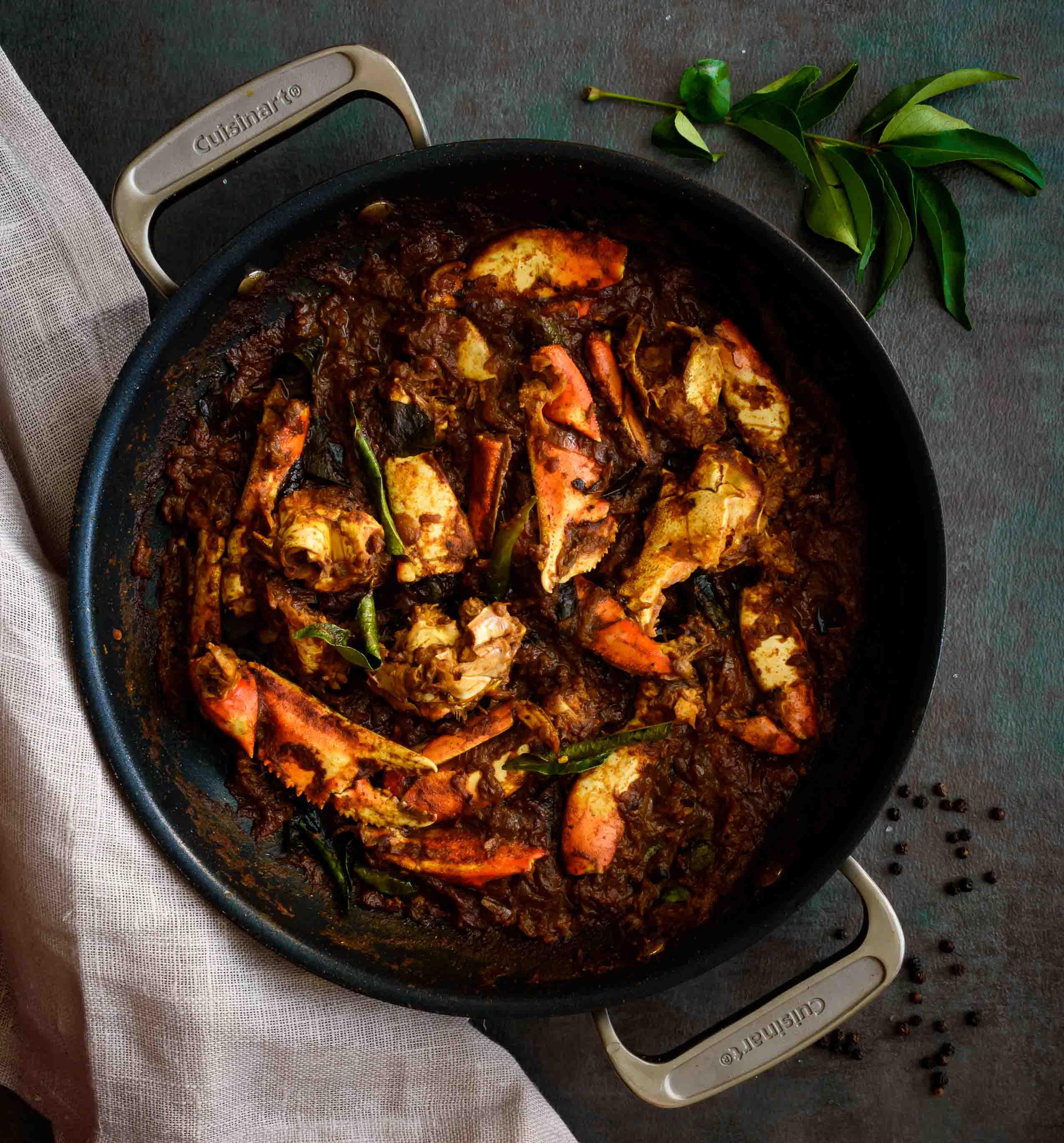 Crab Roast Pepper Delight,Lemon Drop Shots With Triple Sec