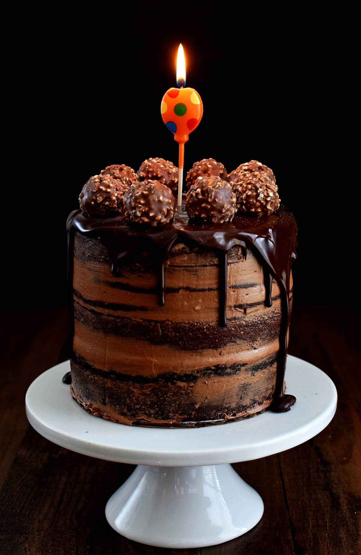 Pleasant Chocolate Hazelnut Semi Naked Cake With Dark Chocolate Ganache Funny Birthday Cards Online Overcheapnameinfo